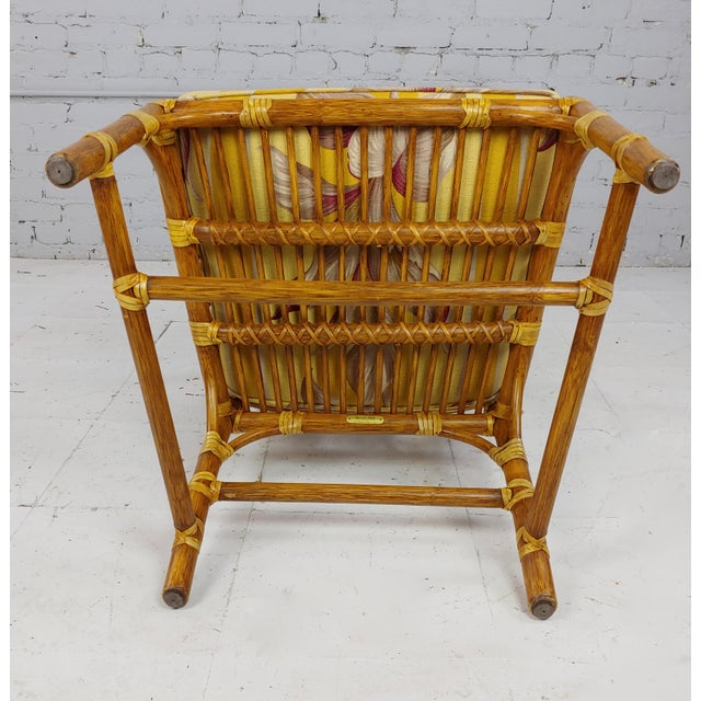 Vintage McGuire Rattan Dining Chairs - Set of 4 For Sale - Image 10 of 11