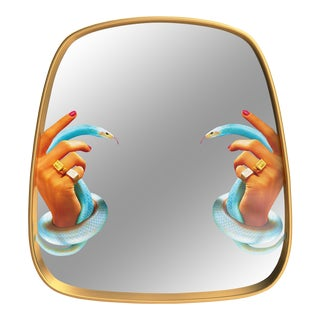 Seletti, Hands With Snakes Mirror, Toiletpaper, 2018 For Sale