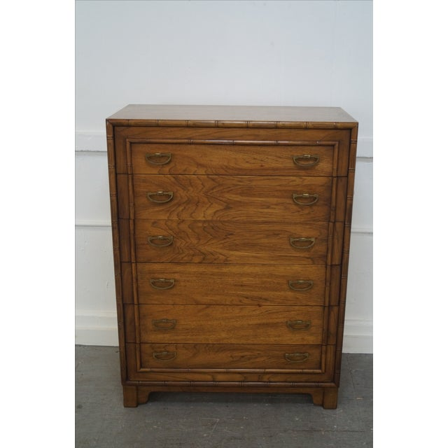 Lane Faux Bamboo Vintage Tall Chest - Image 2 of 10