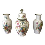 Image of Floral Dutch Collection of Ceramic Vases - Set of 3 For Sale