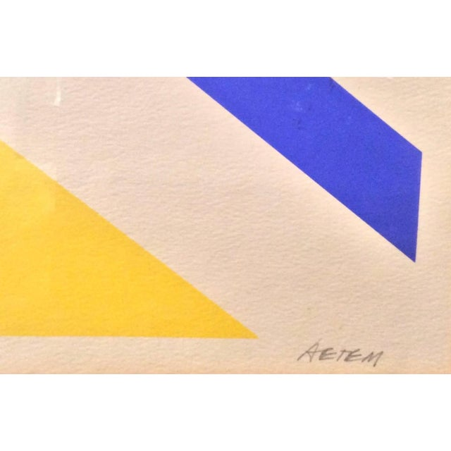 Mid-Century Limited Edition Abstract Graphic Print - Image 4 of 7