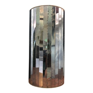 Vintage Smoked Glass Mirror Umbrella Stand by National Products