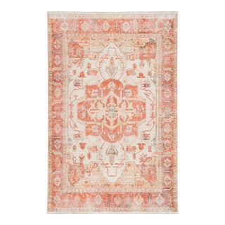 "Jaipur Living Rhoda Medallion Orange Ivory Area Rug 7'10""X9'10"" For Sale"