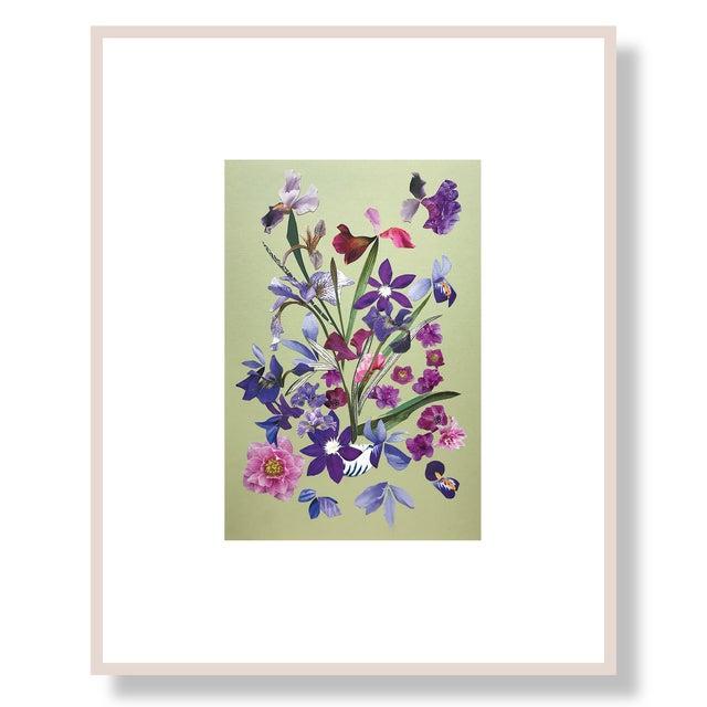"Abstract Marcy Cook ""Franciacorta in Portofino"" Original Fine Art Collage For Sale - Image 3 of 3"