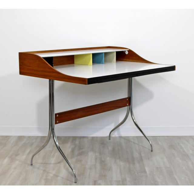 Mid-Century Modern Early Production George Nelson Herman Miller Swag Leg Desk For Sale - Image 13 of 13