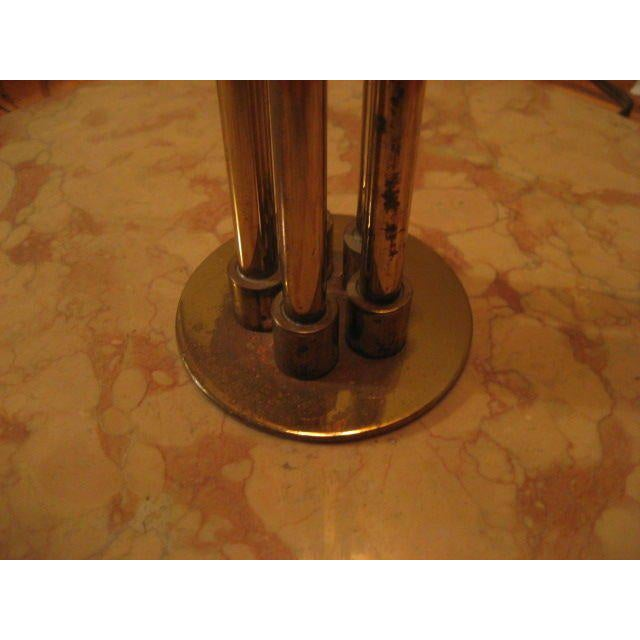 1950s 1950s Vintage Brass Five Arm Tree Form Floorlamp For Sale - Image 5 of 7