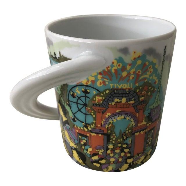 "Vintage 1980s Rosenthal Porcelain ""Kopenhagen"" City Cup by Bjorn Wiinblad Coffee Mug For Sale"