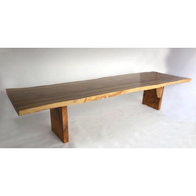 Long Live Edge Organic Modern Albezia Table For Sale - Image 4 of 11