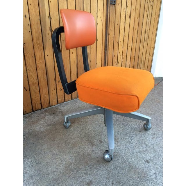 Vintage SteelCase Orange Office Chair - Image 2 of 8