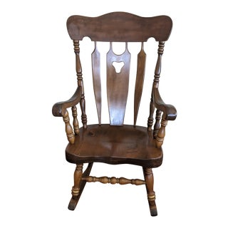 Vintage S. Bent & Bros. Solid Maple Rocking Chair For Sale