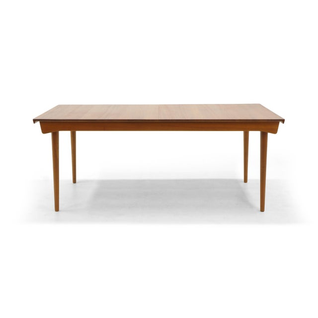 Finn Juhl Teak Dining Table, Expandable with Two Leaves, Exceptional Condition - Image 6 of 11