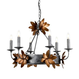 Mid-Century Modern Simone 6 Light Chandelier For Sale