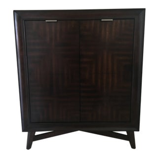Mid-Century Wood Liquor Cabinet For Sale