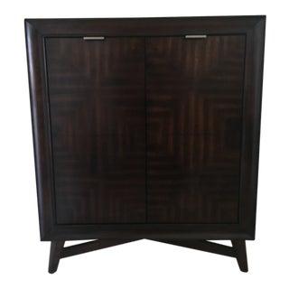 Mid-Century Wood Liquor Cabinet For Sale