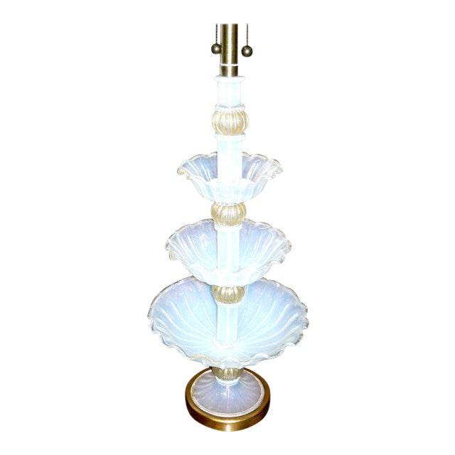 Marbro Murano Glass Three-Tier Center Piece Fitted as a Lamp For Sale