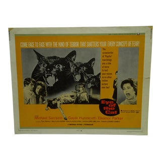 """Vintage 1969 """"Eye of the Cat"""" Michael Sarrazin & Gayle Hunnicutt Movie Poster For Sale"""