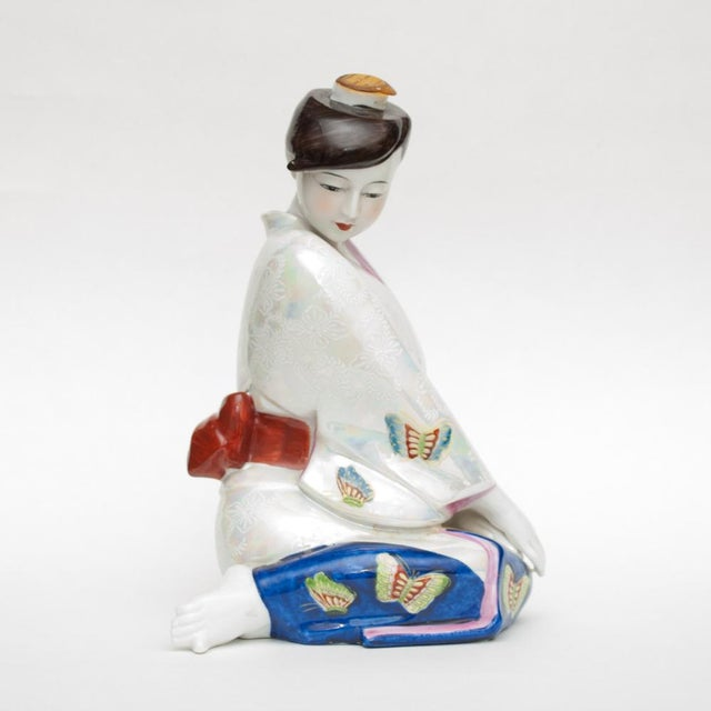 1950s Vintage Japanese Porcelain Sake Bottle or Figurine For Sale - Image 12 of 12