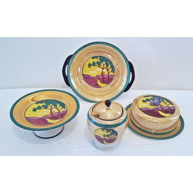 Pink Vintage Noritake Deco 4 Piece Set For Sale - Image 8 of 13