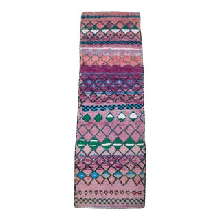 Vintage Purple and Pink Boujaad Moroccan Runner For Sale