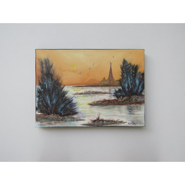 Modern Watercolor Landscape Painting For Sale - Image 3 of 3
