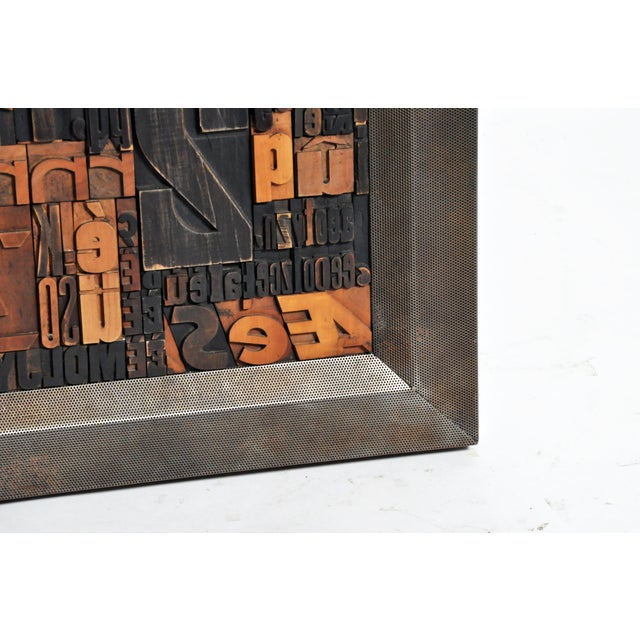 """Brown """"Les Lettres"""" Contemporary Art Work by Raoul W. For Sale - Image 8 of 11"""