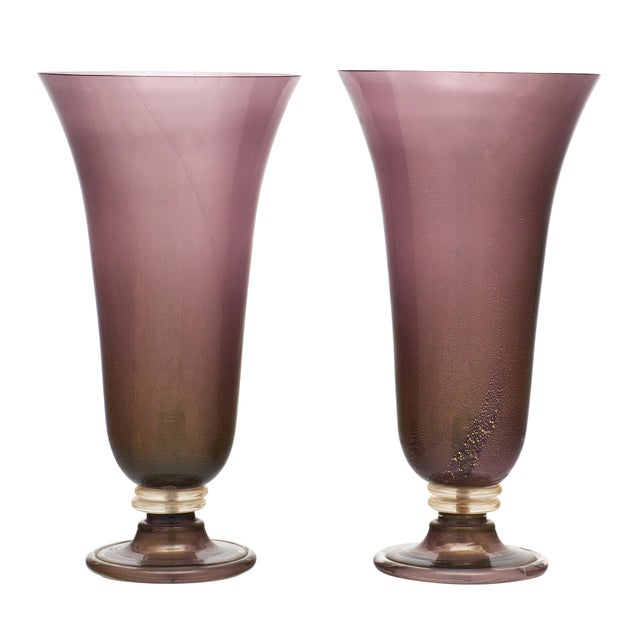 Purple Murano Glass Urn Lamps For Sale - Image 11 of 11