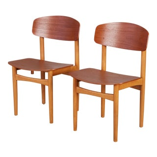 Pair of Børge Mogensen Side Chairs For Sale