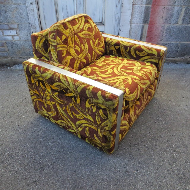 Mid-Century Modern Andy Warhol Inspired Banana Lounge Chair For Sale - Image 3 of 7