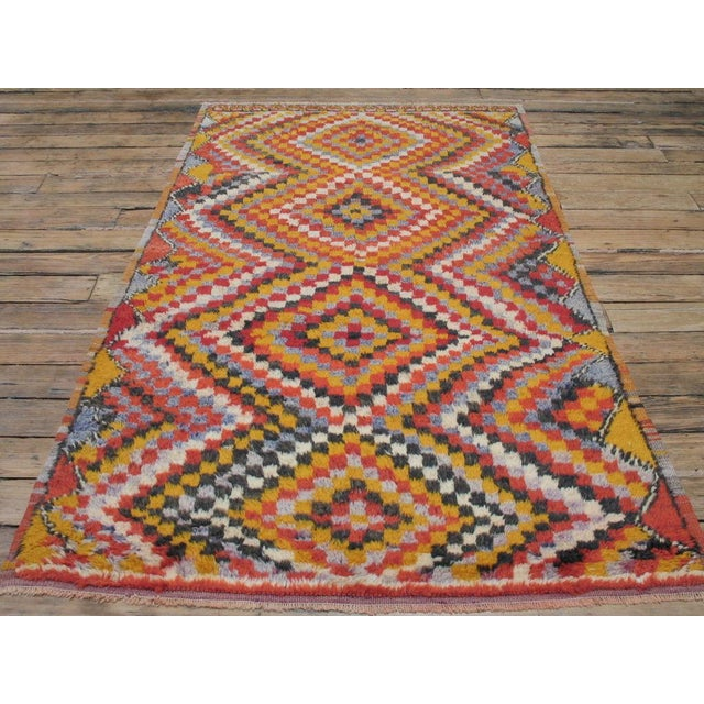 """Shaggy village rug of the type referred to as """"yatak"""" or sleeping rug in Central Turkey. Very good example of the type."""