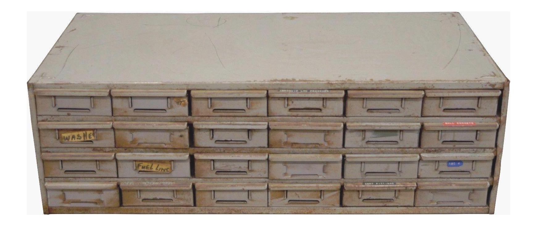Vintage 24 Drawer Steel Metal Storage Tool Parts Cabinet Organizer Industrial Lyon B  sc 1 st  Chairish & Vintage 24 Drawer Steel Metal Storage Tool Parts Cabinet Organizer ...