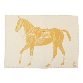 Stick & Ball Alpaca Polo Pony Throw Blanket For Sale