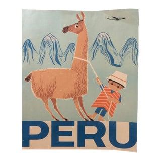 1960s Peru Braniff Airways Travel Poster For Sale