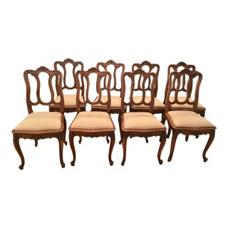Early 20th Century French Dining Chairs - Set of 8 For Sale