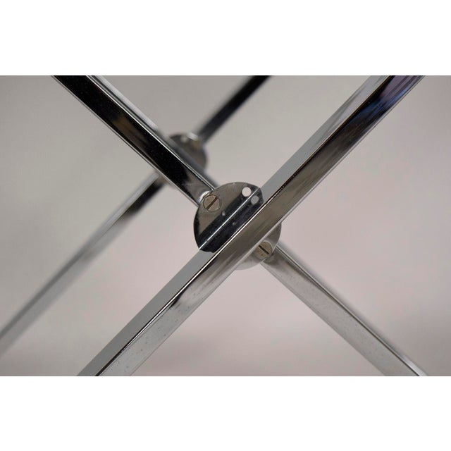 Mid-Century Modern Chrome and Glass Console Table - Image 5 of 6