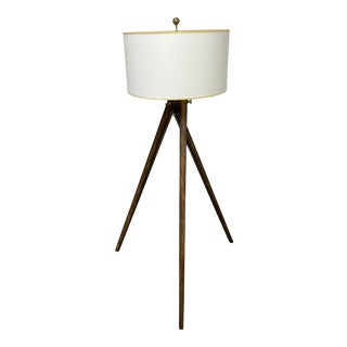 Visual Comfort Chapman & Myers Tripod Drum Shade Floor Lamp For Sale