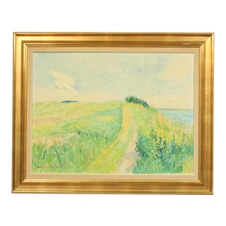 Late 20th-Century Impressionist Oil Painting by Jorn Glob For Sale