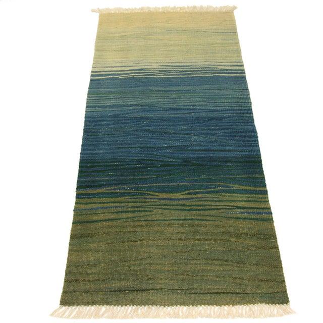 "Turkish Kilim Flat Weave Runner - 2'1"" x 5'3"" - Image 2 of 4"