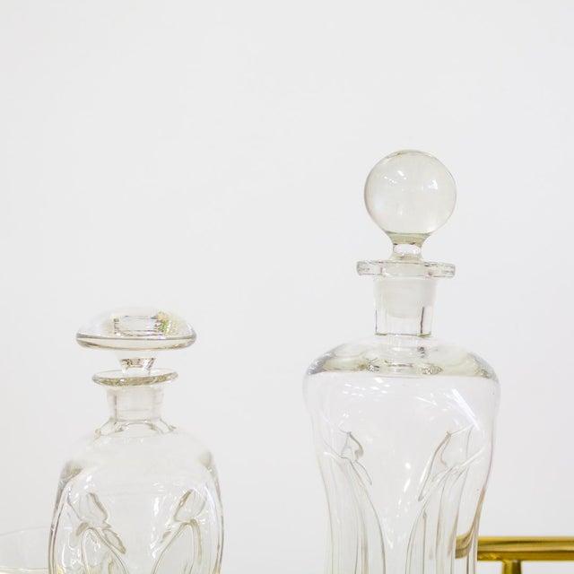 Danish Modern Mid Century Modern Holmegaard Kluk Danish Decanters - A Pair For Sale - Image 3 of 7
