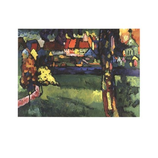 """Wassily Kandinsky Murnau 27.5"""" X 35.5"""" Poster 1994 Expressionism Green, Multicolor For Sale"""