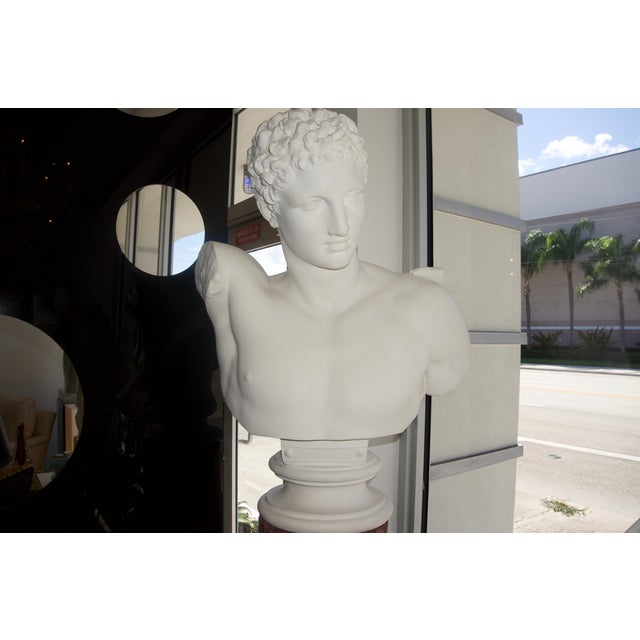 """Neoclassical Revival """"Hermes"""" Plaster Bust For Sale In West Palm - Image 6 of 13"""
