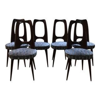 Mid-Century Osvaldo Borsani Italian Dining Chairs - Set of 6 For Sale