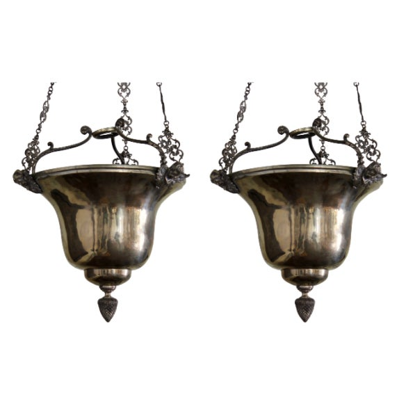 Metal Late 19th Century Spanish Uplights - A Pair For Sale - Image 7 of 7
