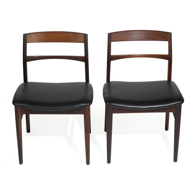 Rare Arne Vodder Solid Rosewood Dining Chairs - Set of 8 For Sale - Image 9 of 13