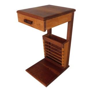 Custom Danish Modern Style Teak End Table For Sale