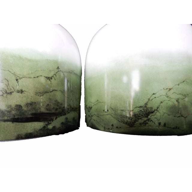 Celadon Chinese Glazed Vases - A Pair - Image 4 of 8