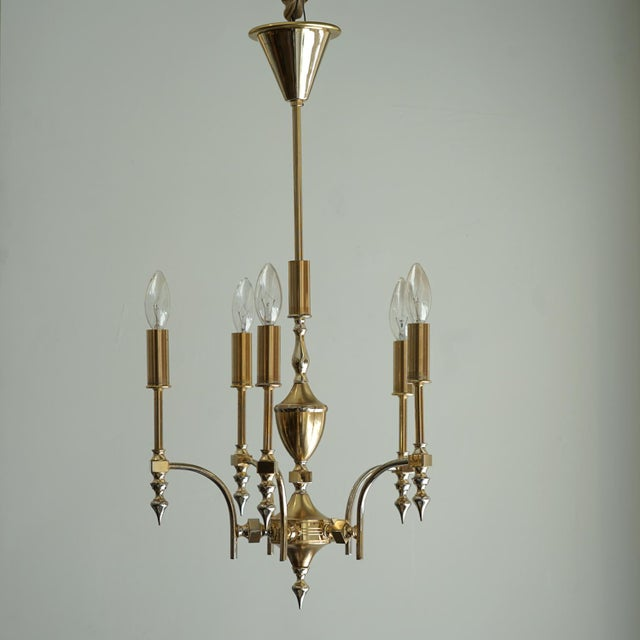 German Gold Plated Chandelier Petite german Gold Plated Chandelier. Re-wired all UL approved parts