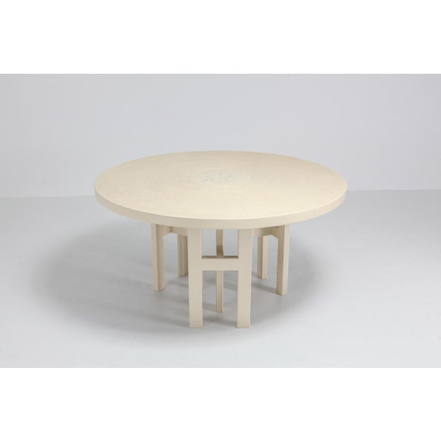 Belgian Jean Claude Dresse Exceptional Resin Dining Table For Sale - Image 3 of 9