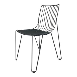 Black Powder Coated Outdoor Chair For Sale