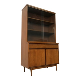 Broyhill Mid-Century Modern China Cabinet W/Storage Base ~ Bookcase For Sale