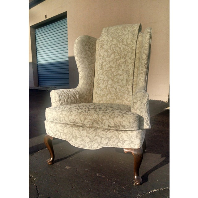Vintage Wingback Chair - Image 2 of 3